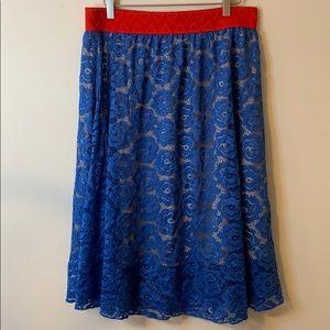 Floral Lularoe Azure shift skirt